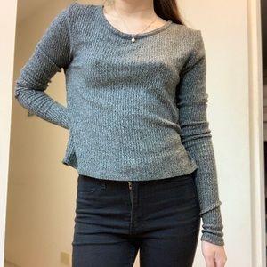 Brandy Melville gray long sleeve top